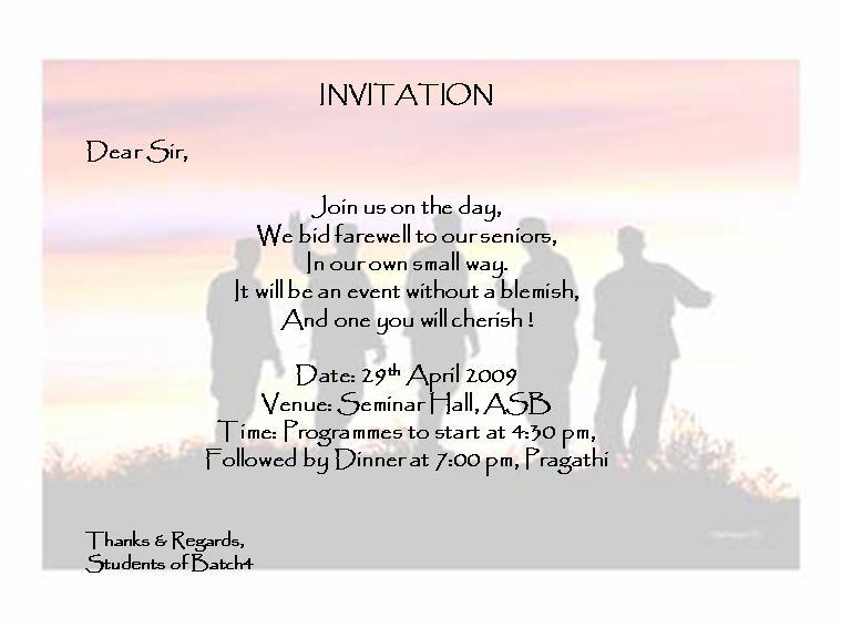 farewell invitations for seniors
